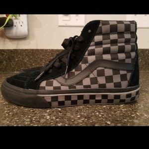 Checkered vans Sk8-Hi Checkeredboard hi top shoes